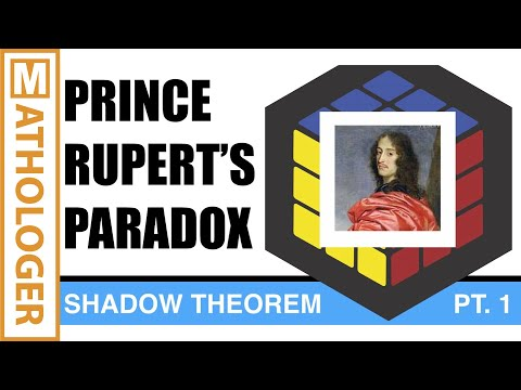 The cube shadow theorem (pt.1): Prince Rupert's paradox