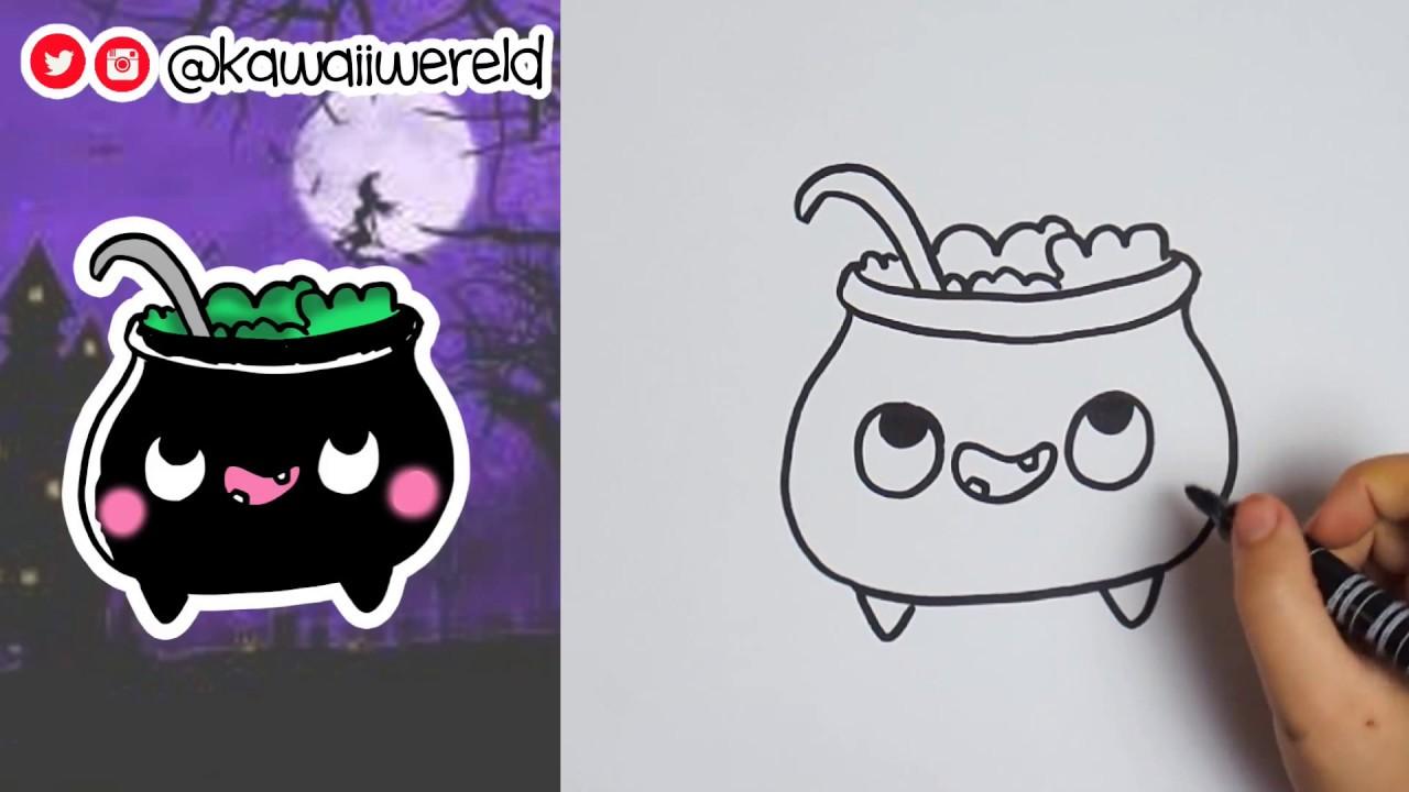 Halloween Tekeningen Maken.Heksenketel Dag 2 Halloween Teken Challenge