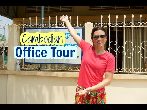 Cambodian Office Tour I My Favorite Part!