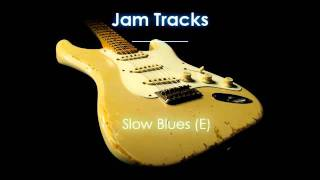 Slow Blues Backing Track (E) - TheGuitarLab.net -