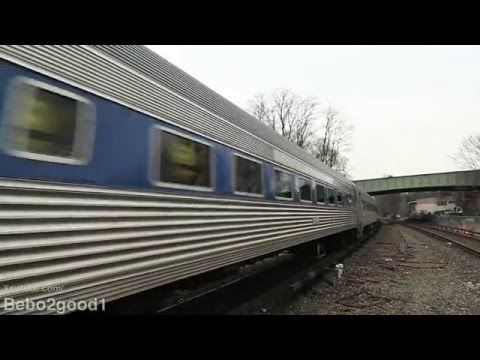 Metro-North Employee Holiday Train on the Harlem Line [Double P32] 60FPS