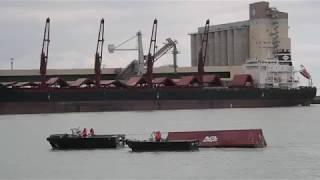 La Rochelle: Arrivée du premier conteneur du