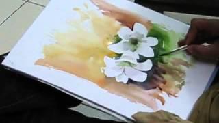 Рисуем цветы акварелью(Рисуем цветы акварелью (англ), 2013-04-22T16:26:09.000Z)