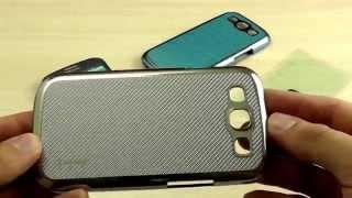 """Обзор: Эксклюзивный Чехол-Накладка для Samsung Galaxy S3 GT-i9300 """"NavJack"""" Серия Corium + Пленка"""