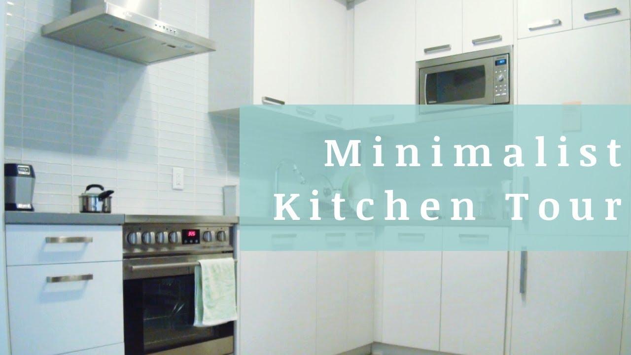 Minimalist Kitchen Tour 2018 | My Studio Apartment - YouTube