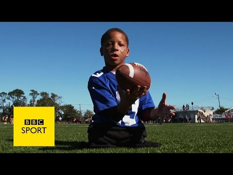 The boy playing American football with no legs - BBC Sport
