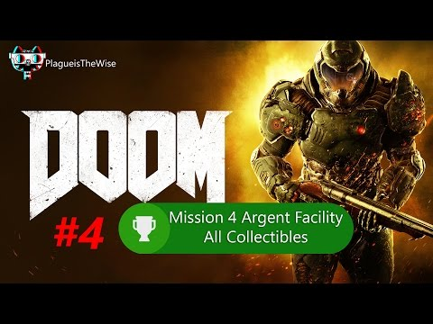 DOOM GUIDE 100 % Level 4 Argent Facility All Collectibles &