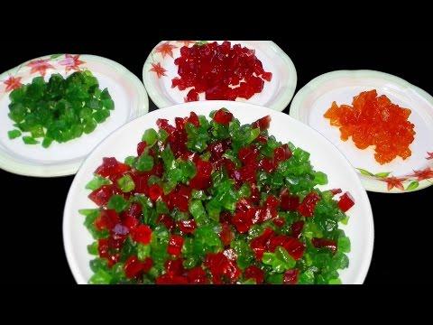 How to make TUTTI FRUTTI at home    Candied fruit   DIY Papaya Tutti Frutti