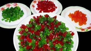 How to make TUTTI FRUTTI at home || Candied fruit | DIY Papaya Tutti Frutti