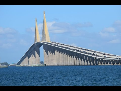 Ride in to the sky!!! Sunshine Skyway Bridge - Tampa Bay (Florida)
