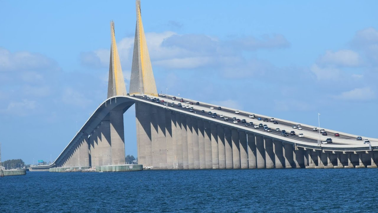 Ride In To The Sky Sunshine Skyway Bridge Tampa Bay Florida