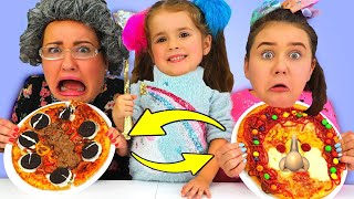 Ruby & Bonnie Play Pizza Lunchbox Switch Up Challenge