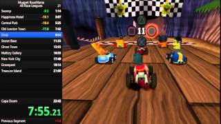 Muppet Race Mania All Races Speedrun (3 Laps) - 21.54