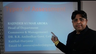 Different types of Assessments of Income Tax in Hindi under E-Learning Program | Dr. B. R. Ambedkar Govt. College Kaithal