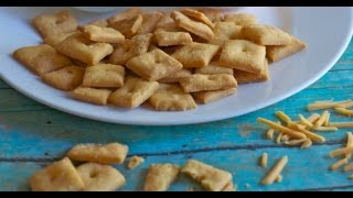Homemade Cheese Crackers Recipe   Only 4 Ingredients!