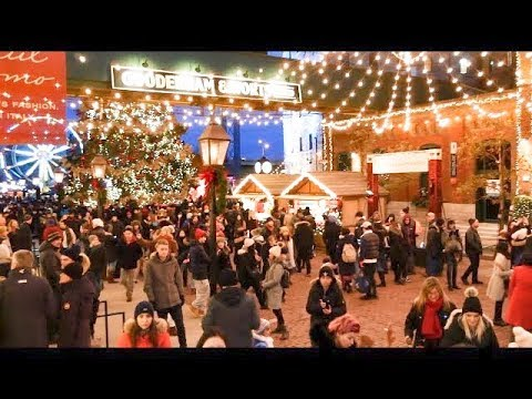 Toronto Christmas Market in the Distillery District 2018 #to
