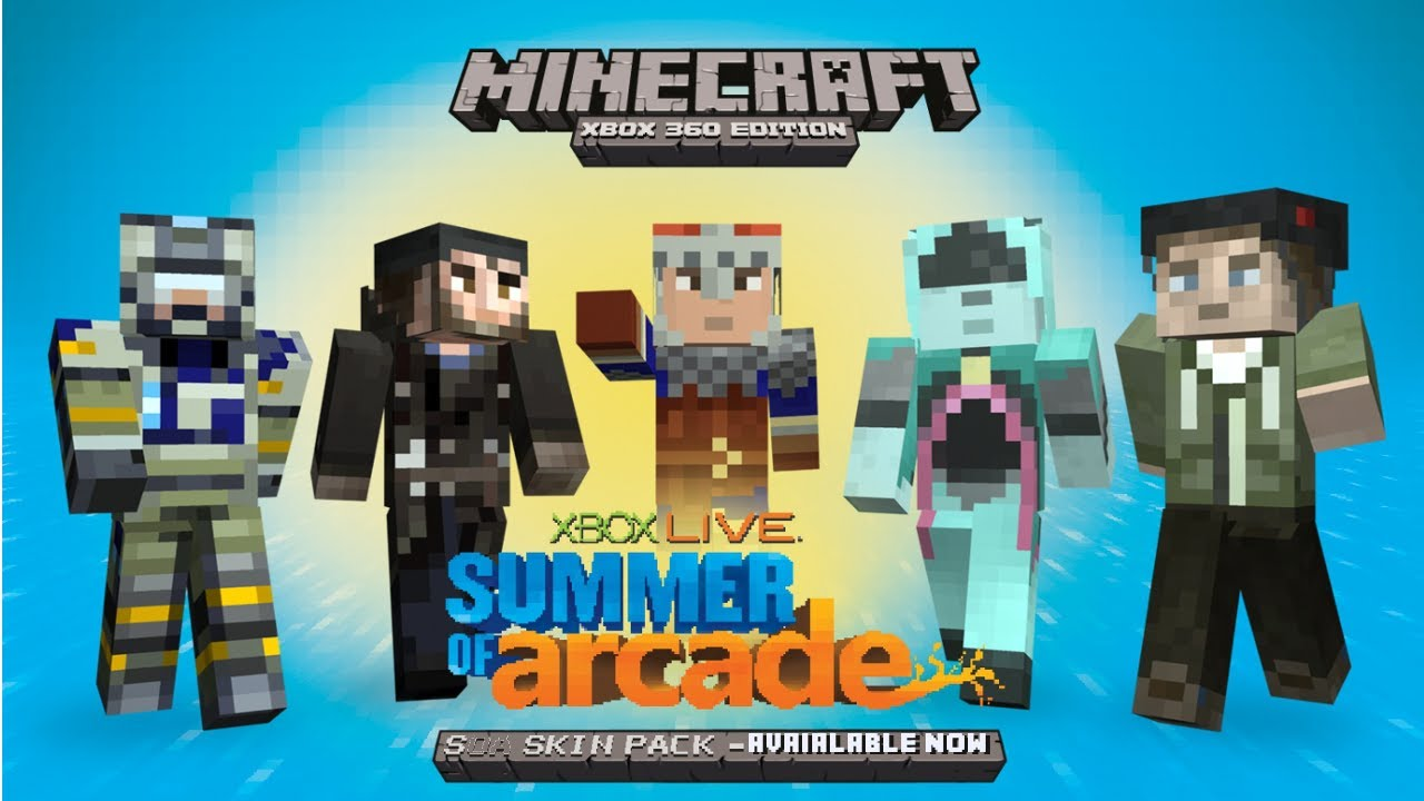 Free Summer of Arcade Skin Pack for Minecraft XBOX 360 ...
