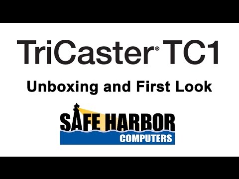 NewTek TriCaster TC1 - Unboxing and First Look
