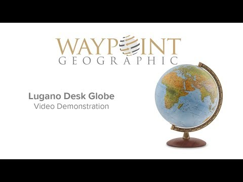 "Waypoint Geographic Lugano Globe - 12"" Desktop World Globe with Illumination"