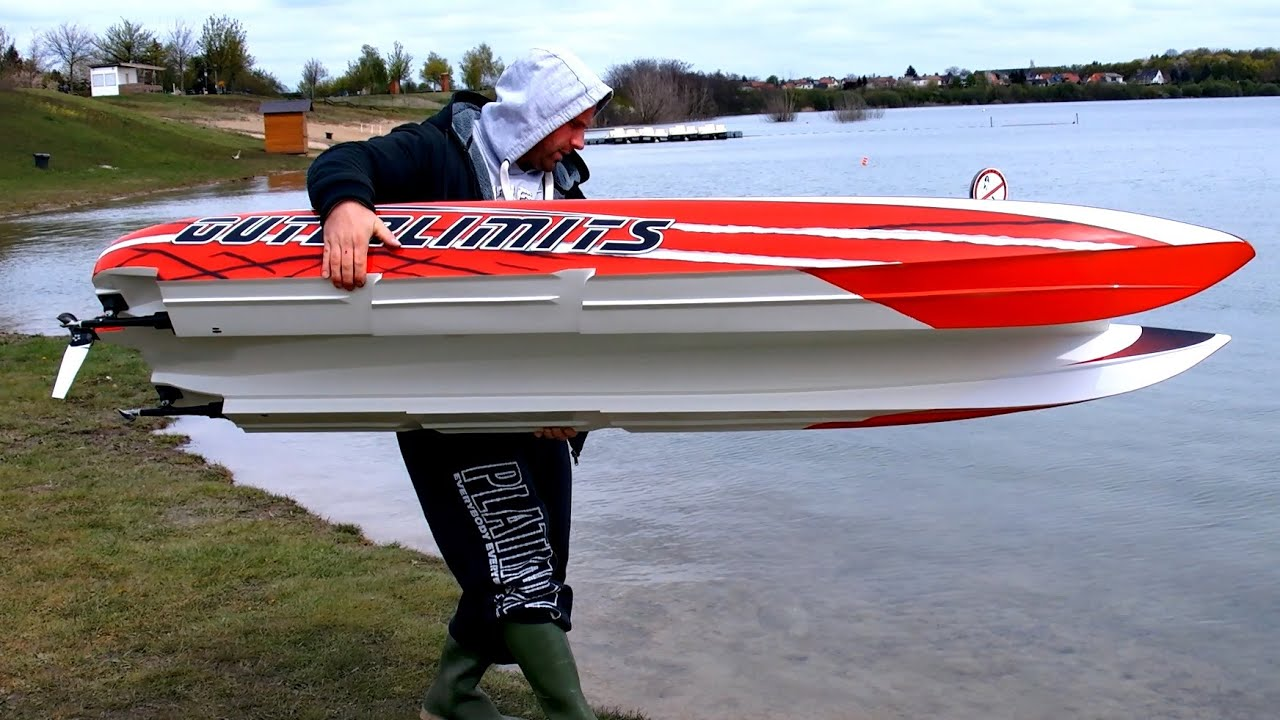 Gigantic Powerful Rc Powerboat Speedboat Hpr 233 130 Kmh