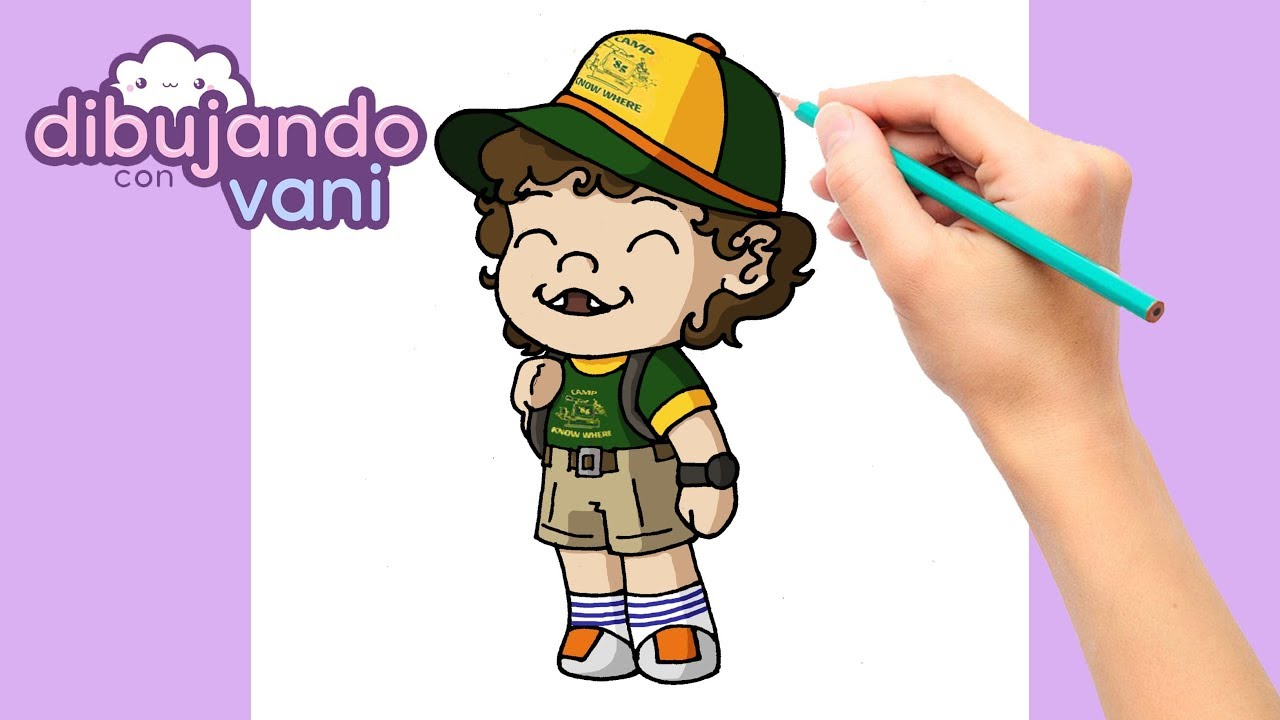Como Dibujar A Dustin De Stranger Things Kawaii Dibujos Faciles Dibujos Kawaii Youtube