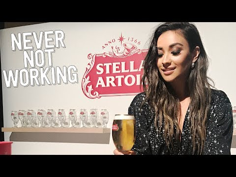 #NeverNotWorking: Even If It Means Drinking On The Job | Shay Mitchell