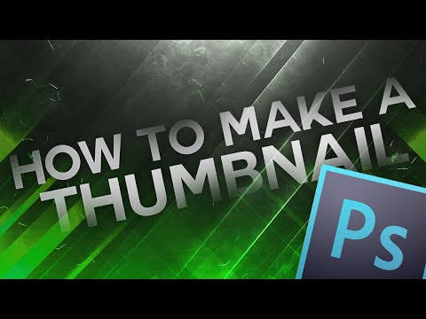 How To Make A Clean Thumbnail For Youtube In Photoshop CC/CS6 (2016)