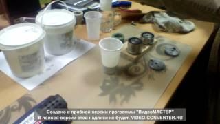 Заливка полиуретана в домашних условиях . Обрезинивание роликов