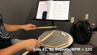 Alfred Drum Method Book 1, Solo #1 No Repeats