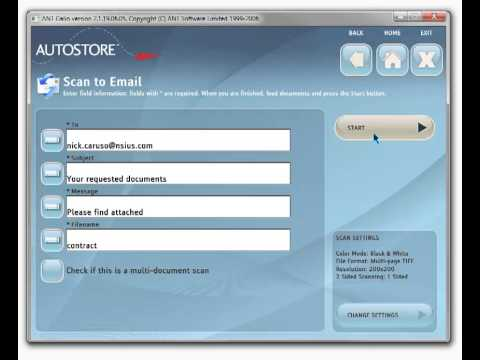 Scan Multiple Documents to One Email