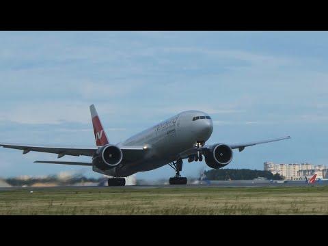 Норд Винд Nord Wind Boeing 777-200. Полет Москва-Сочи
