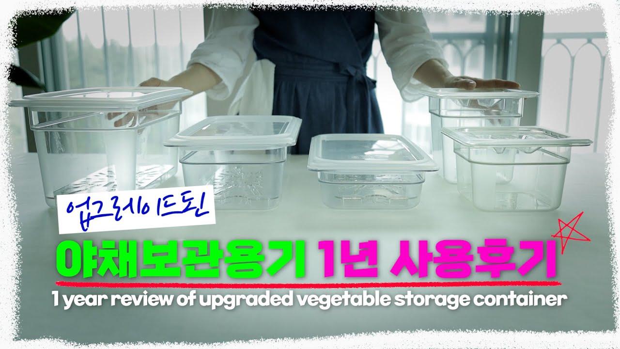 sub)[냉장고정리용품] 업그레이드된 야채보관용기 10 + 1년 사용후기ㅣ추천 냉장고 용기