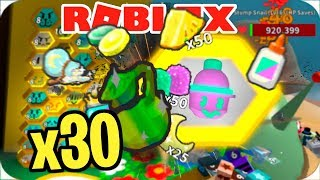ABRIENDO 30 MAGIC SPROUTS EN ROBLOX BEE SWARM