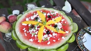 How To Make Pizza Watermelon Summer Salad With Lime And Feta Recipe By Heghineh