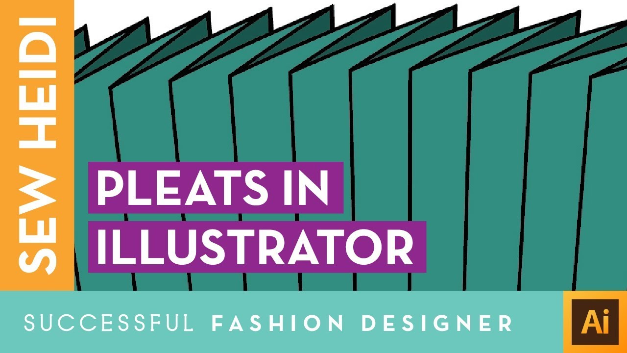 How To Draw Pleats On A Fashion Flat In Illustrator Youtube