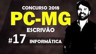 PC MG Concurso 2018 Minas Gerais Polícia Civil Aula 17 Informática
