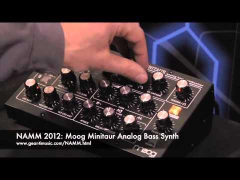 NAMM 2012 VIDEO: Moog Minitaur Analog Bass Synth overview