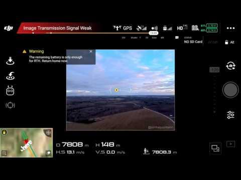 DJI Inspire 2 Range Test at 2.4GHz - 8.1km / 5 miles