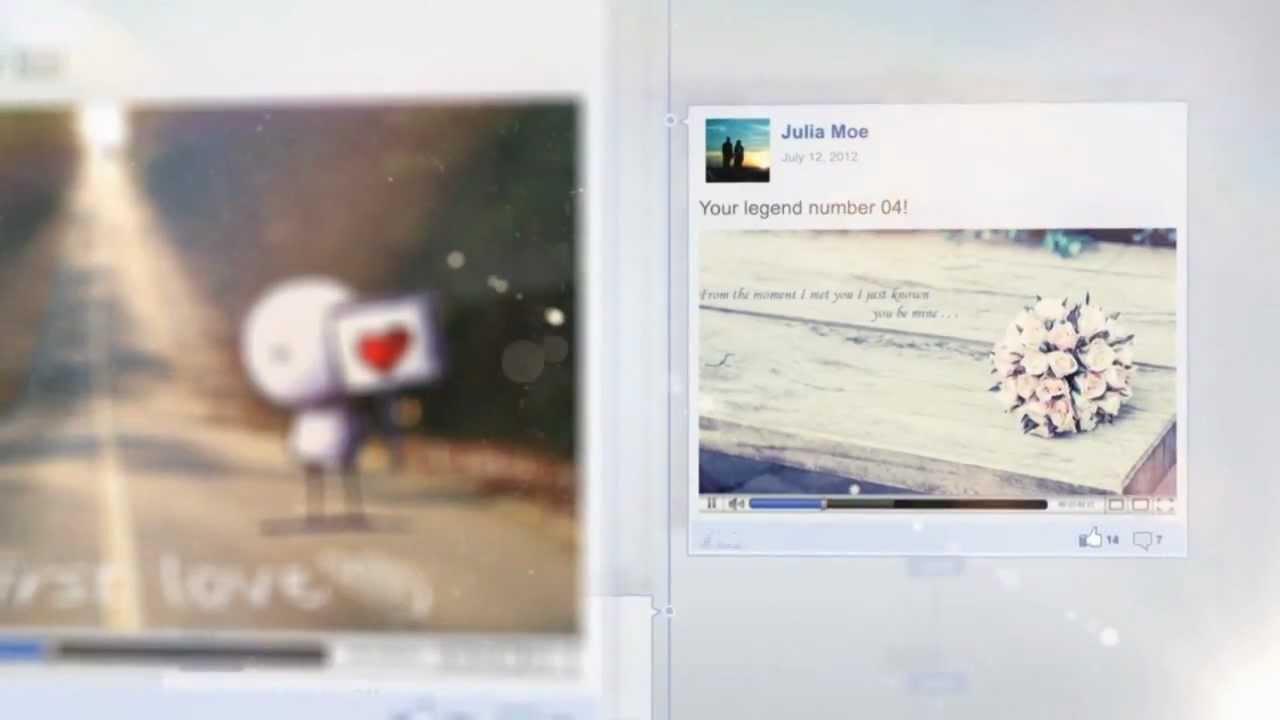 After Effects Project Facebook Timeline Legends Youtube