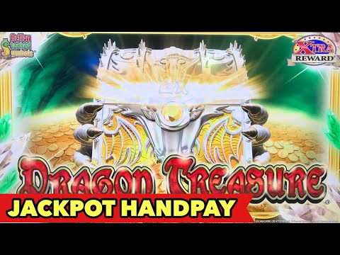 🔥JACKPOT HANDPAY🔥DRAGON TREASURE - FIRST HANDPAY in 2019 | MAMMOTH POWER | SPARKLING ROSES BIG WIN