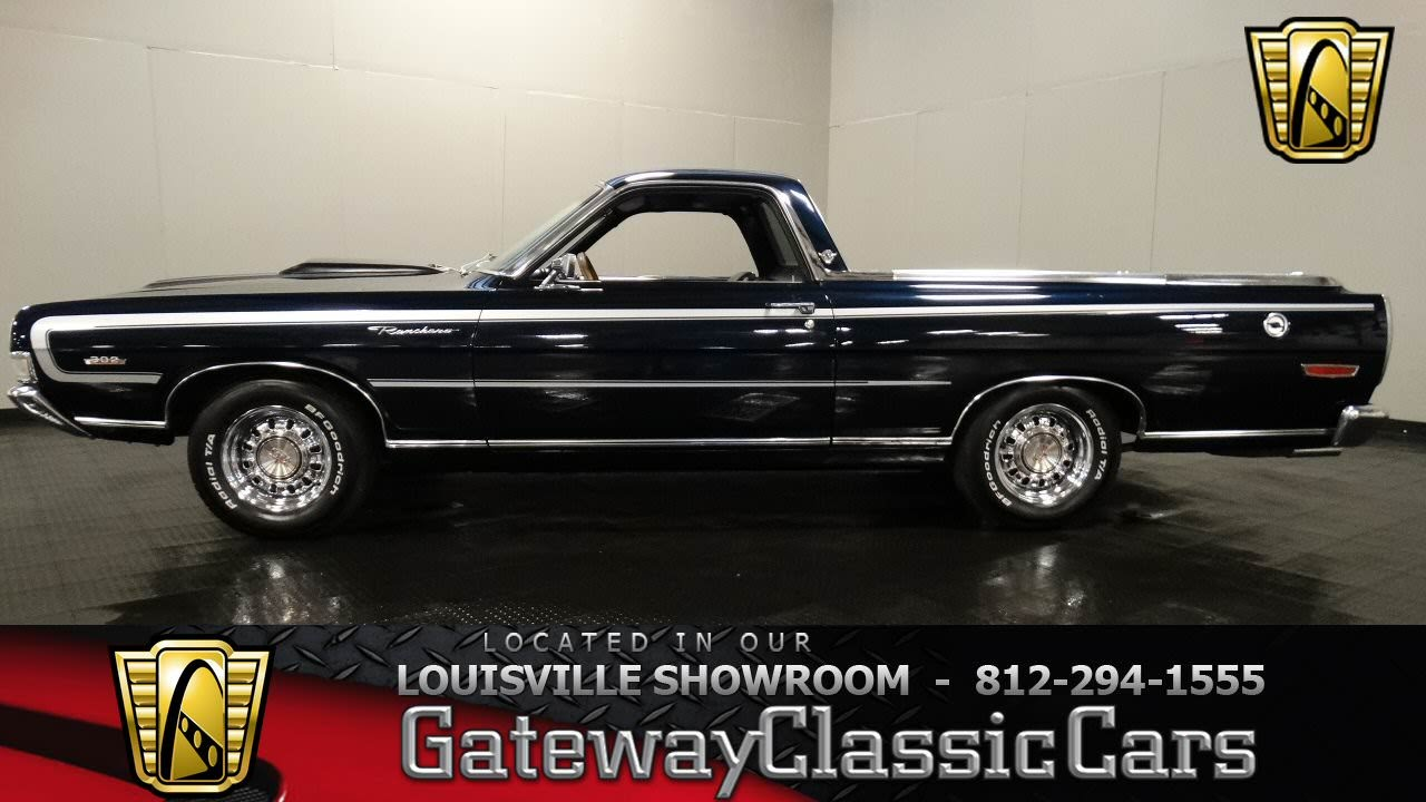 1969 ford ranchero louisville showroom stock 1010