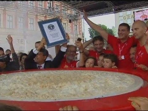 World's largest cappuccino record attempt in Zagreb, Croatia