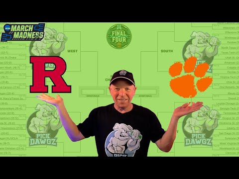 Clemson vs Rutgers 3/19/21 Free College Basketball Pick and Prediction NCAA Tournament