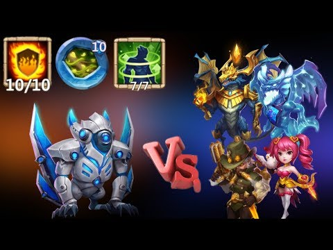 Ghoulem | 10/10 Flame Guard | 10/10 Vital Boon | Vs Top Legends | Castle Clash