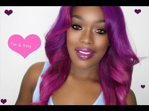 Colorful Ombre Hair Pink Amp Purple Youtube