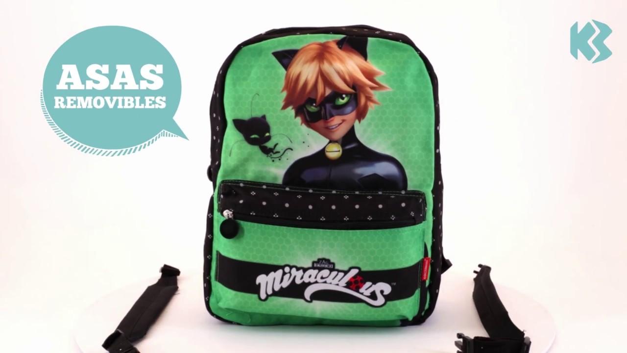 Download Mochila escolar Ladybug / Cat Noir reversible | KARACTERMANIA