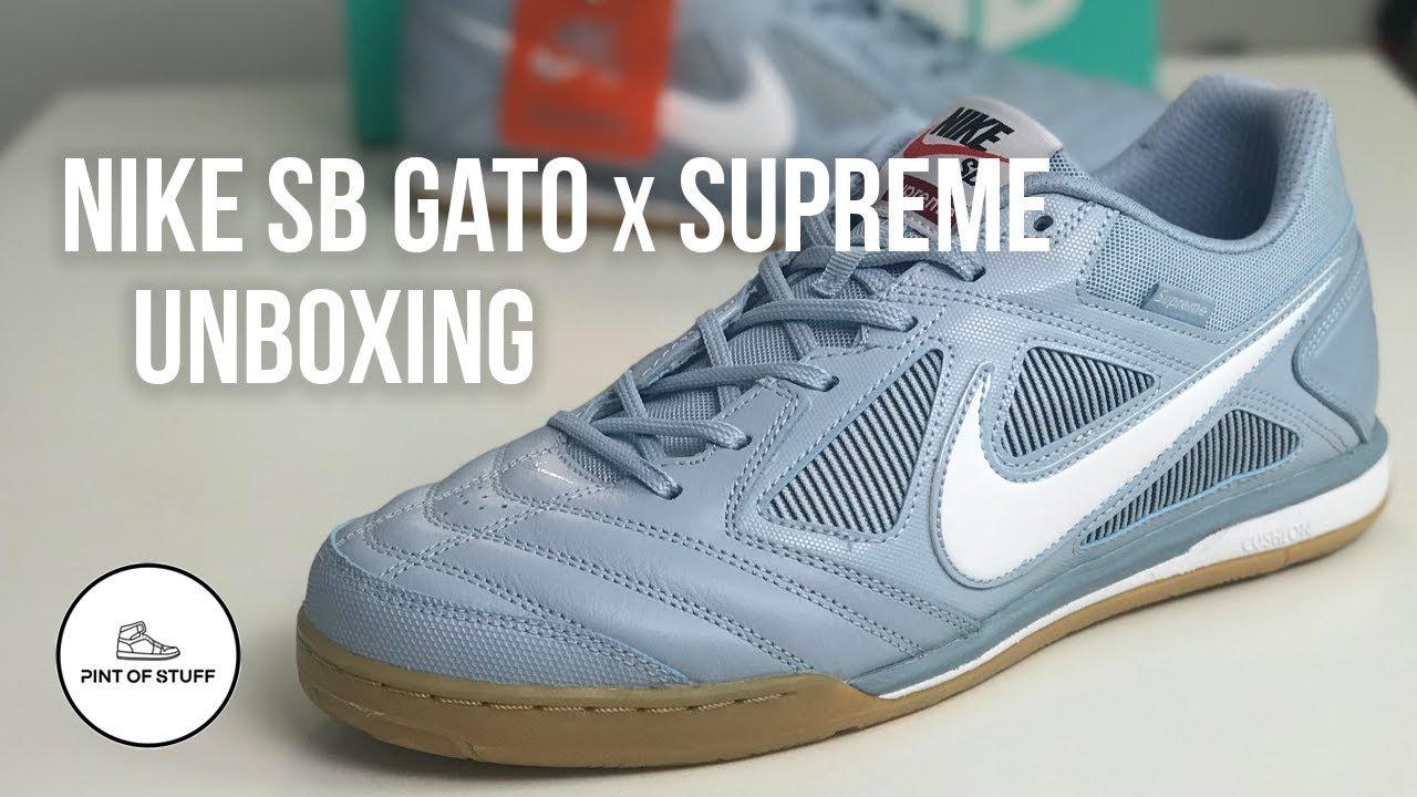 aaac82552c2 Nike SB Gato x Supreme Sneaker Unboxing with Mr B - YouTube