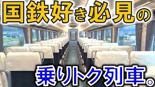 国鉄型特急車両を普通列車として使う乗りトク路線に乗りました。