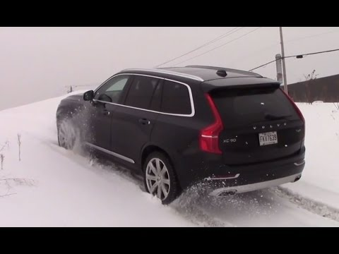 AWD TEST : 2016 Volvo Xc90 Diagonal and Offroad test on ice and snow