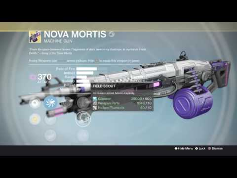 Destiny - How To Get The Nova Mortis (Songs From The Void Quest) + Saladin's Gift Opening